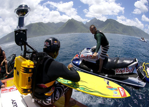 Red Bull 360 Cam and Surfer