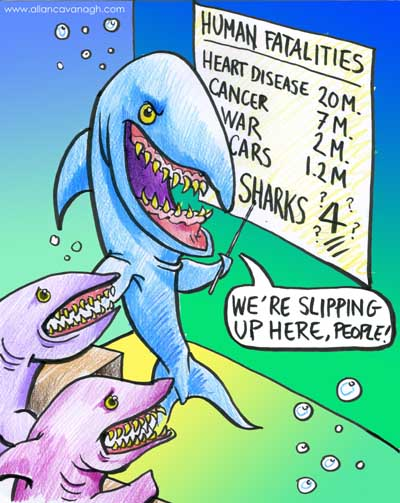 sharks cartoon Mexican Navy Secures Coast After Attacks, Jaws IV Scouts Mexican Location for New Film