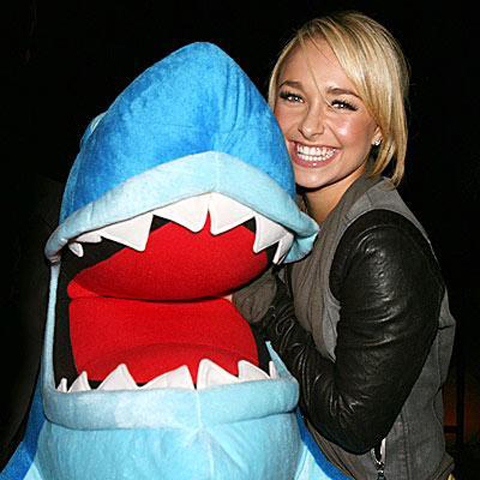 Hayden Panettiere and a Shark