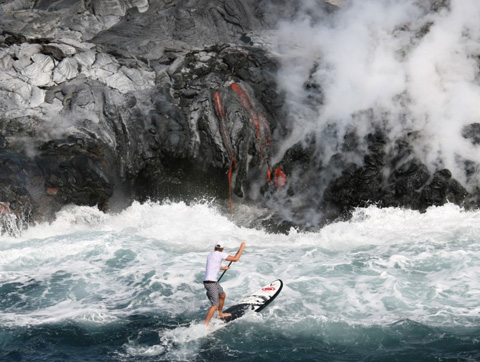 Surfer and Hot Lava