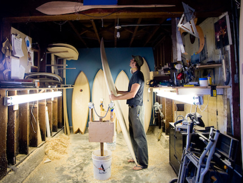 Shaping Room of Hess Surfboards