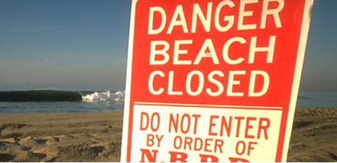 beach closed California Cuts Clean Water Monitoring at Beaches   Take Action!
