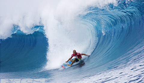 Slater at Teahupoo