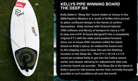 Channel Islands Deep Six - Kelly Slater's Board