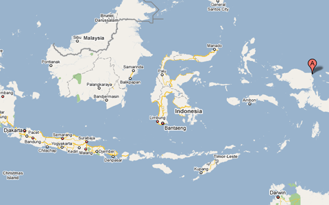 Map of Indonesia and Papua