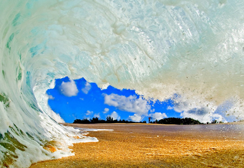 clark little sandy barrel wave Clark Little Surf Photography   Stunning Images of Waves