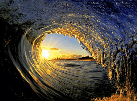 clark little sunset barrel wave Clark Little Surf Photography   Stunning Images of Waves